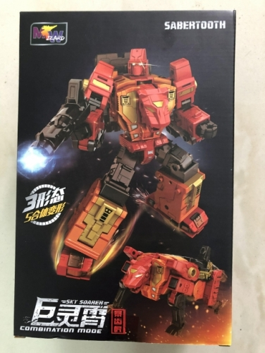 Transformer WeiJiang WJ Sky Soarer Rampage Oversized Sabertooth Combination Mode POTP Feral Rex Predaking
