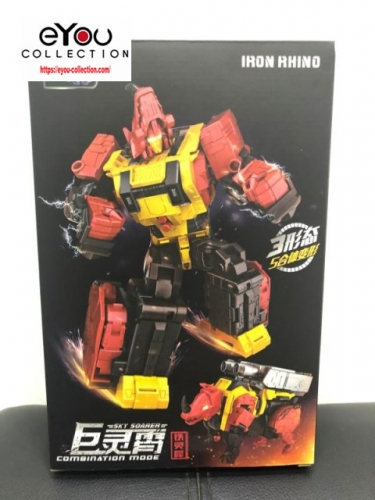 Transformer WeiJiang WJ Sky Soarer Rampage Oversized Iron Rhino Combination Mode POTP Feral Rex Predaking