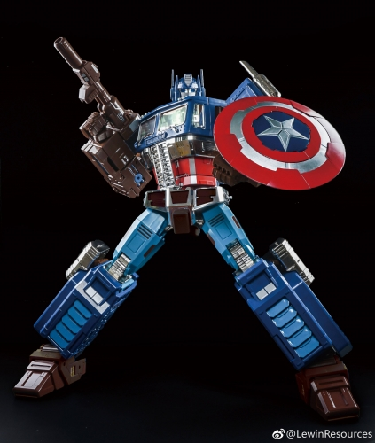 Transformer Toy Lewin Resources LW-01A LW01A MP-10 MP10 Optimus Prime OP Captain America Style Oversized 71cm with LED