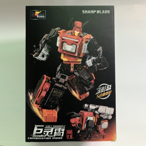 Transformer WeiJiang WJ Sharp Blade--Sky Soarer Rampage Oversized Combination Mode POTP Feral Rex Predaking