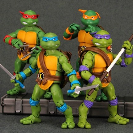 None-brand TMNT Teenage Mutant Ninja Turtles Action Figure Set of 4