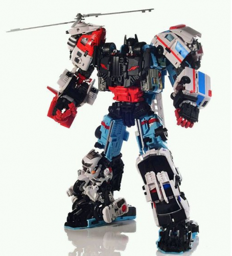 "45cm/17.7"" Tall Transformer Combiner Yes Model Oversized OS Defensor --body figure Inferno"