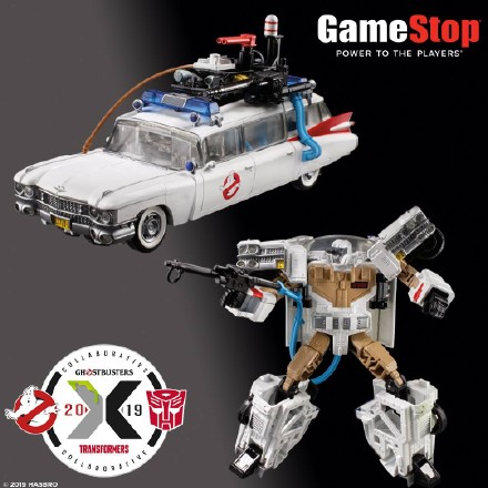 (ETA 12th June 2019) Transformer HASBRO Ghostbusters ECTO-1 ECTO1 Ectotron Vehicle With Slimer Figure Exclusive Version